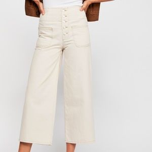 Free People Wide Crop Jean